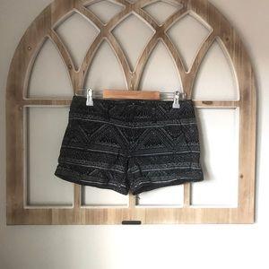Black Print American Eagle Midi Shorts